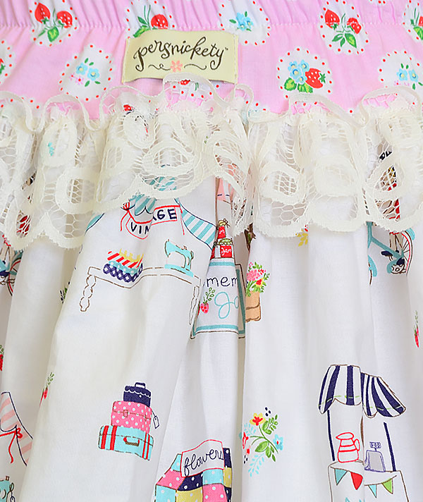 Girls persnickety a bushel and a peck paris skirt 3 4 6 7 for Persnickety home designs