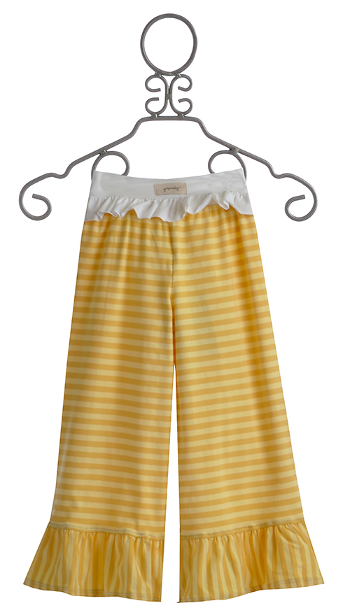 Persnickety clothing yellow stripe bell pant size 12 mos for Persnickety home designs