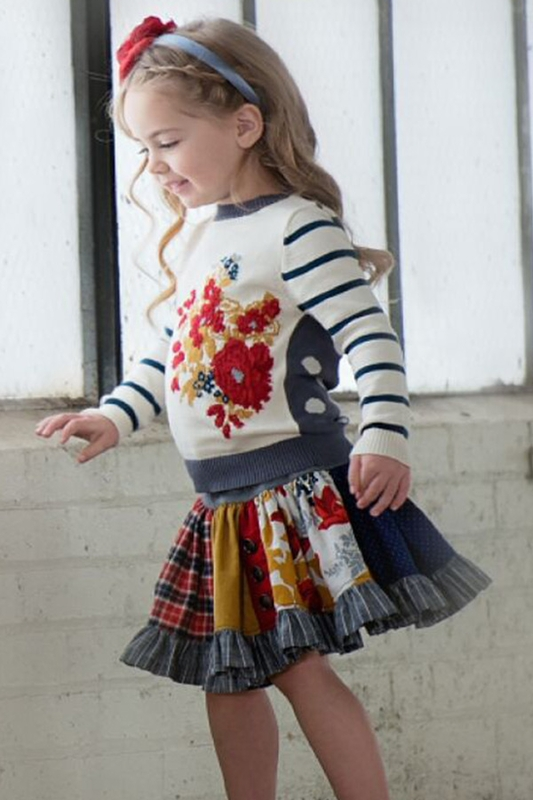Persnickety flora sweater for girls size 12mos for Persnickety home designs