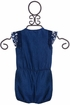 Petit Lem Infant Romper with Crochet in Navy (Size 18Mos) Alternate View
