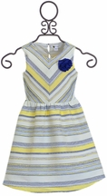 Petit Lem Spring Dress in Yellow and Navy (2,4,6)