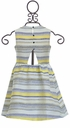 Petit Lem Spring Dress in Yellow and Navy (2,4,5,6) Alternate View