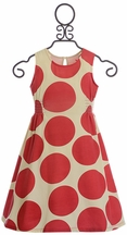 Pink Chicken Red Polka Dot Dress (Size 2)
