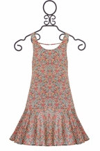 PPLA Floral Print Dress in Coral (Size MD 10/12)