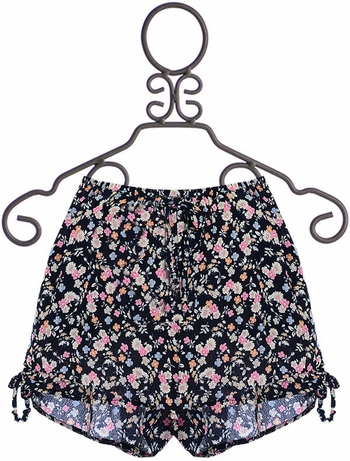 PPLA Floral Shorts in Navy (Size SM 7/8)
