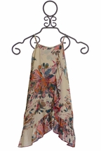 PPLA  Girls Floral Print Dress (Size SM7/8)