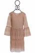 PPLA Girls Lace Dress in Blush Alternate View
