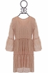 PPLA Girls Lace Dress in Blush Alternate View #2