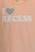 PPLA I Love Recess Tee (SM 7/8, MD 10/12, XL 14/16) Alternate View #2