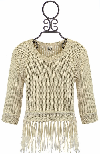 PPLA Ivory Sweater with Fringe SOLD OUT