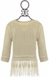 PPLA Ivory Sweater with Fringe SOLD OUT Alternate View