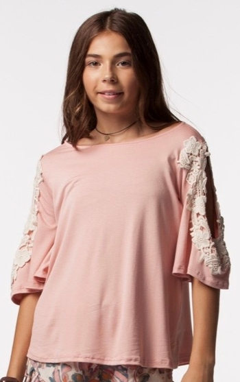 PPLA Top with Lace Detail (Size SM 7/8)