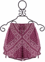 PPLA Tween Shorts in Paisley (Size LG 14/16)