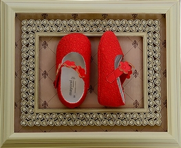 Ready for Spring Baby Shoe in Red