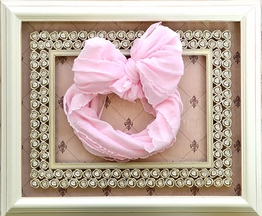 Ruffled Headband Perfect Pink