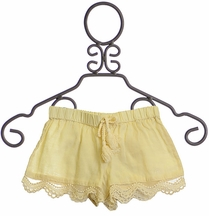 Rylee and Cru Ivory Shorts Lace Scallop