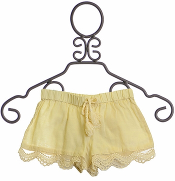 Rylee and Cru Ivory Shorts Lace Scallop (Size 4/5)