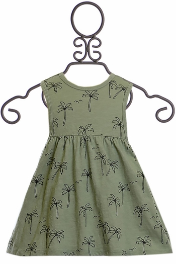 Rylee and Cru Palm Tree Dress Girls (SOLD OUT)