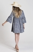 Rylee and Cru Womens Bell Sleeve Dress Sand Dollar (Size MD 6/8) Alternate View