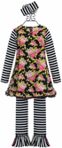 Serendipity Girls Floral Tunic with Leggings (Size 12Mos) Alternate View #2