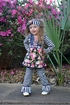 Serendipity Girls Floral Tunic with Leggings (Size 12Mos) Alternate View