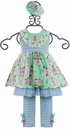 Serendipity Lavender Fields Dress and Leggings (Size 12Mos) Alternate View