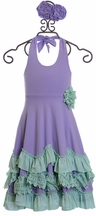 Serendipity Lavender Maxi Dress with Rosette (Size 4)