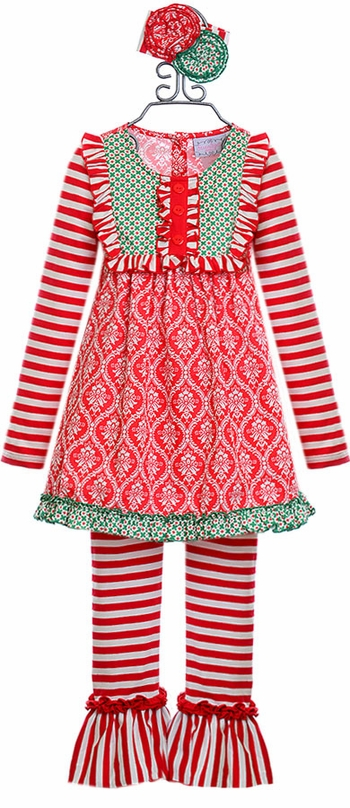 Serendipity Tunic with Ruffle Leggings in (Size 3T)