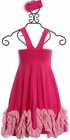 Serendipity Wild Rose Maxi Dress with Rosette (4 & 10) Alternate View #2