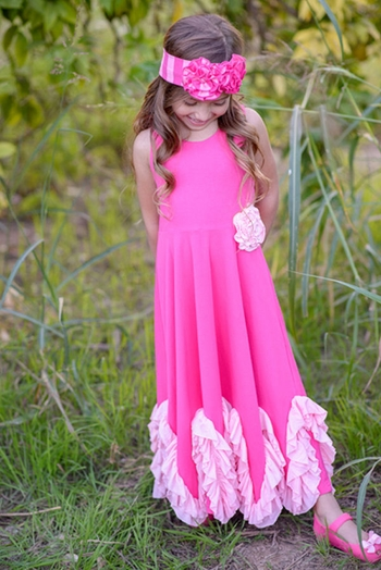 Serendipity Wild Rose Maxi Dress with Rosette (4 & 10)