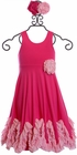 Serendipity Wild Rose Maxi Dress with Rosette (4 & 10) Alternate View