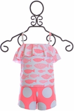 SnapperRock Coral Fish Tankini (Size 8)