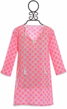 SnapperRock Kaftan Swim Cover Up Pink (Size 4)