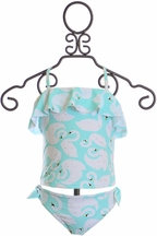 SnapperRock Swan Tankini for Girls (Size 2)