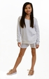 Splendid Girls Gray Sweatshirt with Lace Alternate View #2