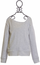 Splendid Girls Gray Sweatshirt with Lace (Size 10)