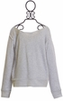 Splendid Girls Gray Sweatshirt with Lace Alternate View