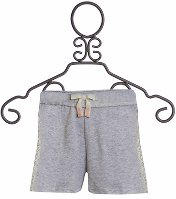 Splendid Lace Trimmed Shorts Gray (Size 12)