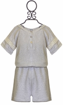 Splendid Tween Sweatshirt Romper with Lace (SM 7/8, MD 10/12, LG 14/16)