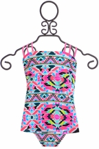 Tankini Swimsuit for Tweens Neon (Size 10)