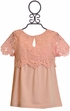 Tea Party for Two Coral Lace Top (8 & 10) Alternate View