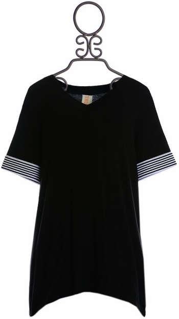 Tru Luv Black Tunic for Tweens (7,8,10)