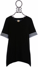 Tru Luv Black Tunic for Tweens (7 & 10)