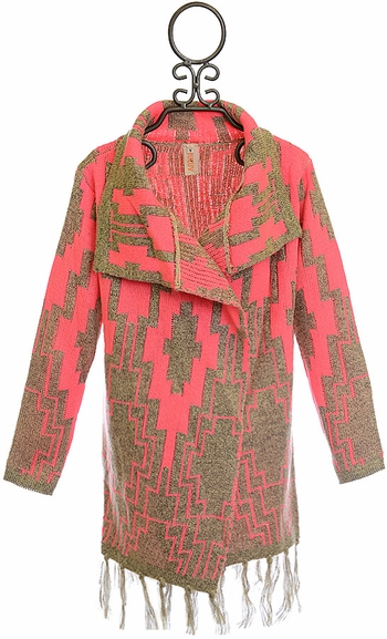 Tru Luv Fashion Sweater for Tweens with Tassels SOLD OUT
