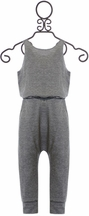 Tru Luv Gray Jumpsuit with Tie Back (4,5,6,7,8)