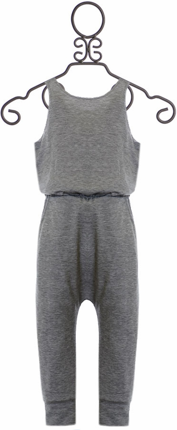 Tru Luv Gray Jumpsuit with Tie Back (Size 4)