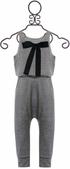 Tru Luv Gray Jumpsuit with Tie Back (4 & 7) Alternate View