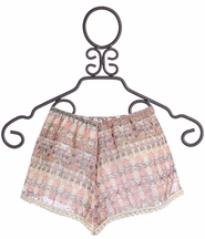 Tru Luv Morocco Tween Shorts in Blush Print (7,8,10)