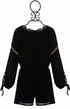 Truly Me Black Romper with Tassels for Girls (4,6,6X) Alternate View #3