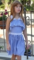 Truly Me Blue Stripe Dress for Girls (4 & 14) Alternate View #3